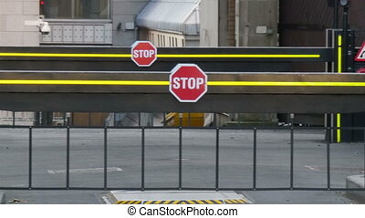 Stop sign from the check point on London street