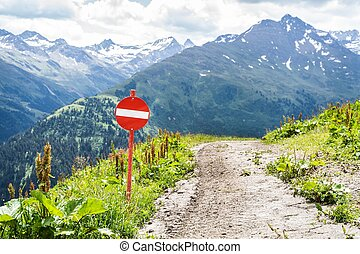 Stop Sign Hiking Path Closed