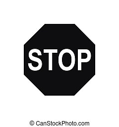 Stop sign icon, simple style