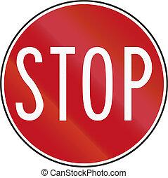 Stop sign in Australia (handheld version for roadworks).