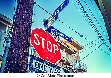 Stop sign in Los Angeles