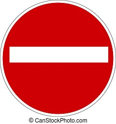 Stop Sign. No entry Sign. Wrong Way Sign.