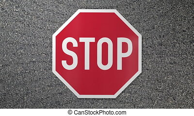 Stop sign smash with impact - Stop sign smash with shocking...