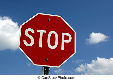 Stop  Sign - North American Road, Highway Stop Sign