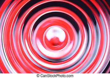 Stop sign - Abstract defocused concentric circles - Stop...