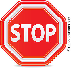 Stop sign - stop sign isolated on white