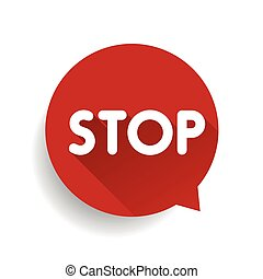Stop sign vector red