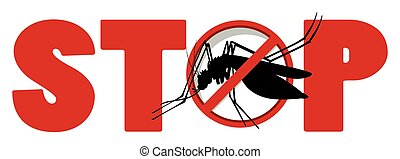 Stop sign with mosquito
