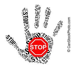Stop sign word cloud
