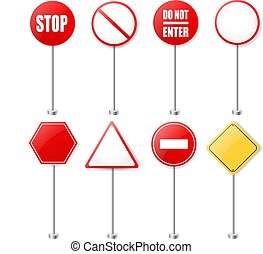 Stop Signs And Traffic Sign Collection