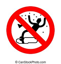 Stop Slippery ice road in winter. Ban Slip on ice....