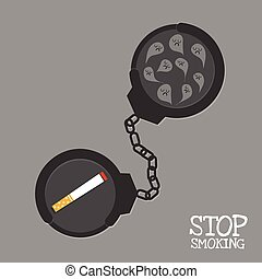 stop smoking and shackle