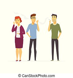 Stop smoking - cartoon people character isolated illustration