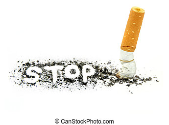 Stop smoking ,close up image