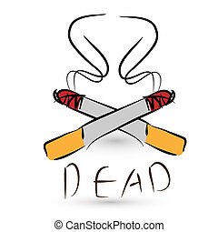 stop smoking concept,  danger of cigarettes