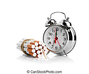 stop smoking.  isolated on white background