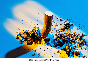 stop smoking. muffled out cigarette