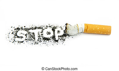 Stop smoking ,on white background