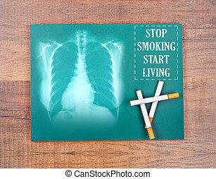 Stop smoking start living word. - Stop smoking start living...