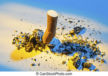 stop smoking. steamed cigarette
