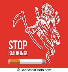 Stop smoking. Vector illustration