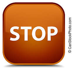 Stop special brown square button