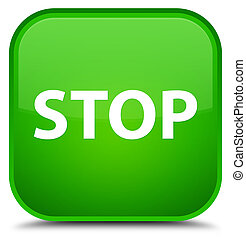 Stop special green square button