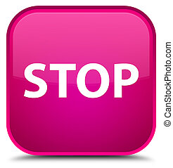 Stop special pink square button