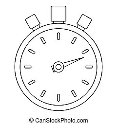 Stop stopwatch icon, outline style.