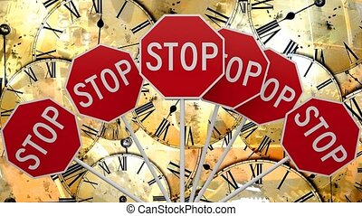 Stop the fast running time. Future time. - Stop the fast...