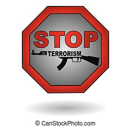 Stop the terrorism sign