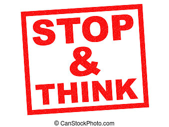 stop think illustrations and stock art 1 082 stop think
