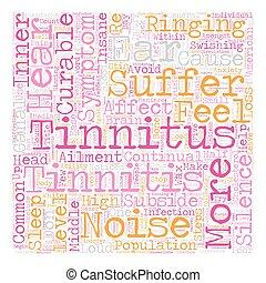 Stop Tinnitus Symptoms Reclaim Silence text background ...