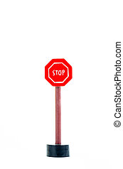 stop traffic sign isolated on white background with copy space for text