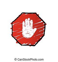 stop trafficking sign illustration - stop trafficking sign...