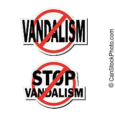 stop vandalism - sticker sets