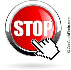 Stop vector button