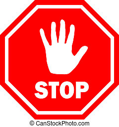 Stop vector sign - Stop sign vector illustration
