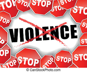 Stop violence - Abstract vector illustration for stop...