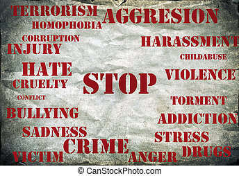 Stop violence symbol