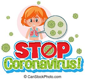 stop, virus, couronne