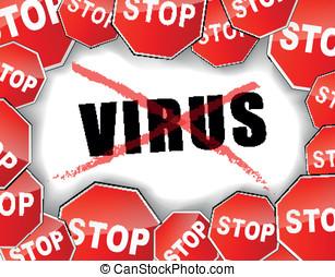Stop virus illustration