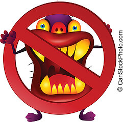 Stop virus - Vector illustration of stop virus symbol
