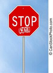 Stop war sign