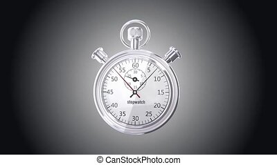 Stop watch animation 1 min - 3D animation of a simple...