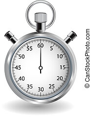 Detailed stop watch, can be used as an icon. All elements can be easily modified.