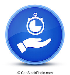 Stop watch icon isolated on special blue round button abstract
