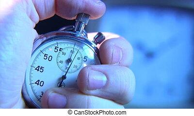 stop-watch, ręka