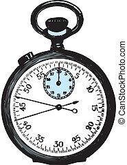 stop-watch, vector