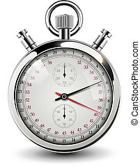 Stop watch vintage - Stop watch, vintage vector illustration